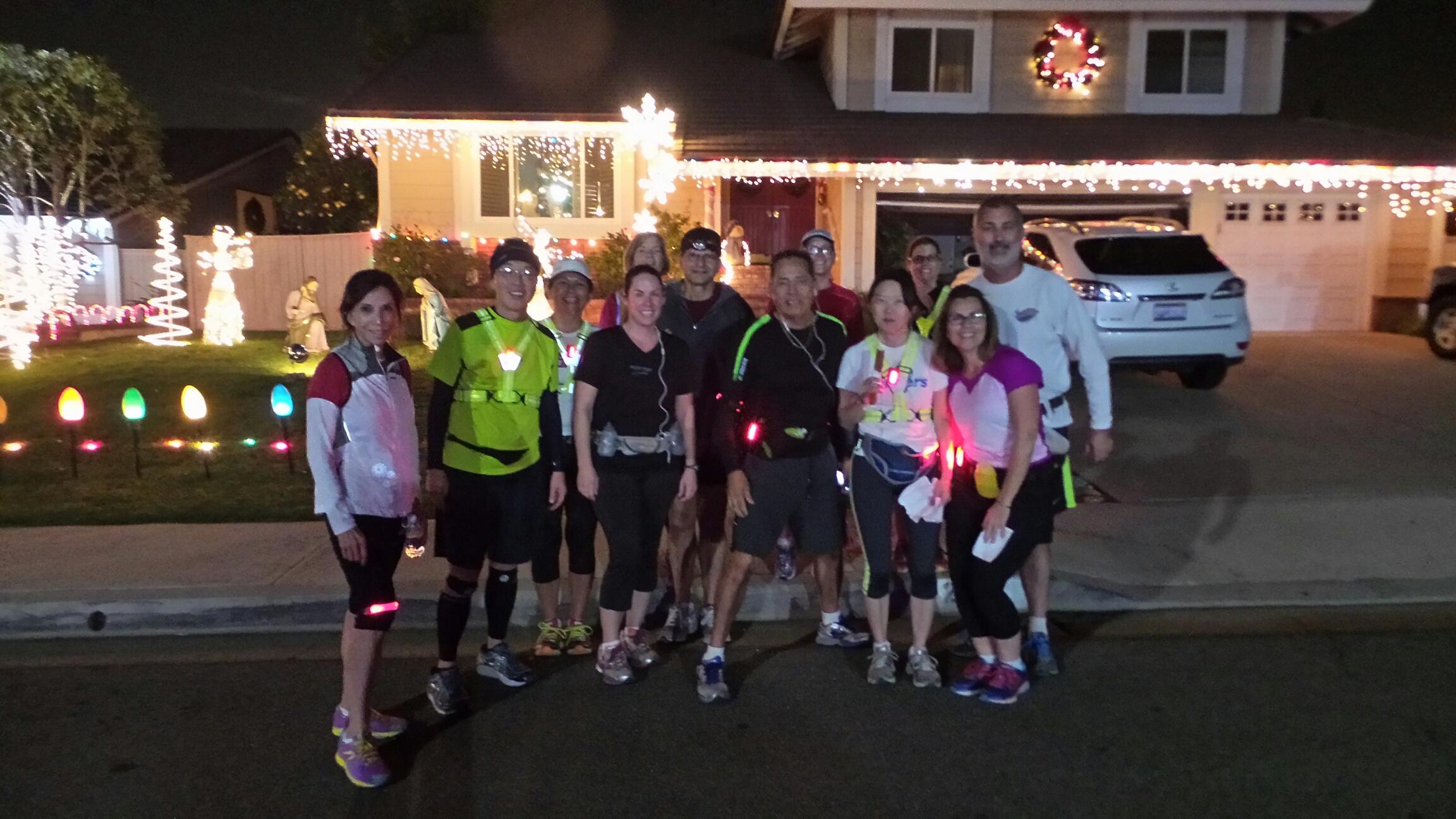 Brea Christmas Lights.Eagle Hills Brea Christmas Lights Run December 2014